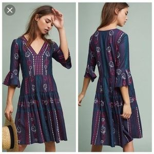 Anthropologie Akemi + Kim Hailey Embroidered Dress